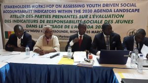 Stakeholders Workshop on the Presentation of a Study Report on Assessing Youth Driven Social Accountability Indicators within the 2030 Agenda Landscape, Toungou Hotel Yaounde 05 March 2018